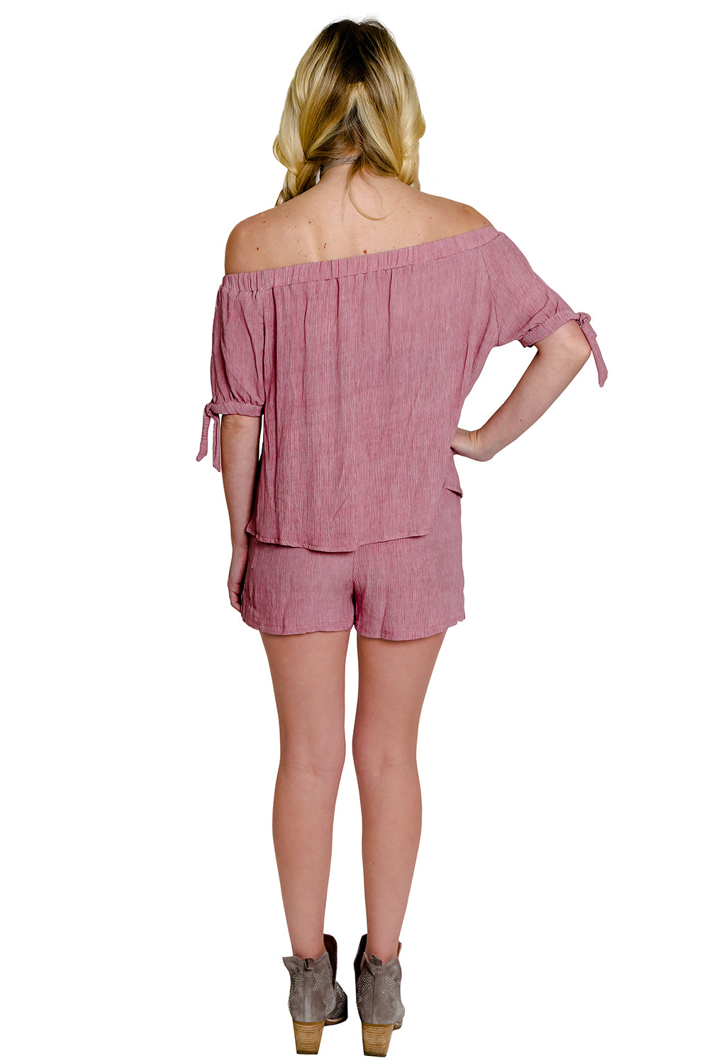 Blush Crinkle Pocket Short