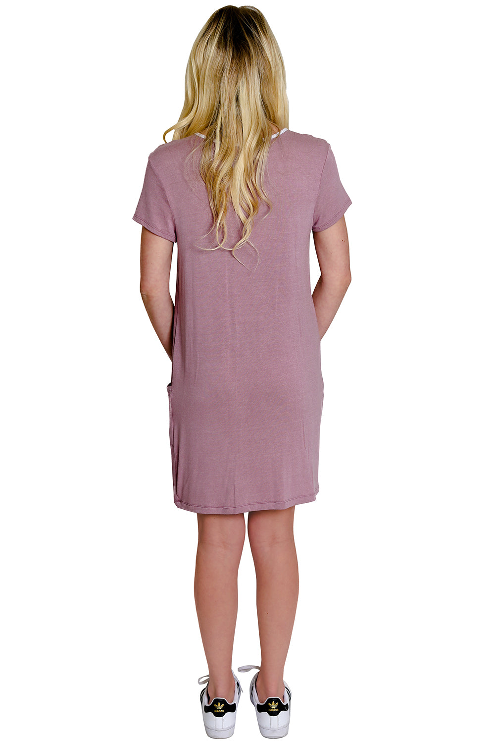 Blush Tee Shirt Dress