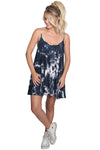 Black Tie Dye Mini Dress