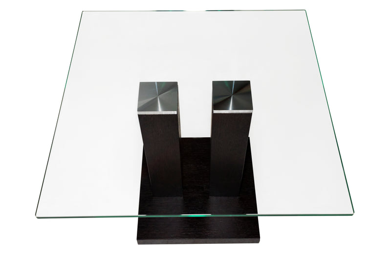 AVANTI Square Glass Top CoffeeTable