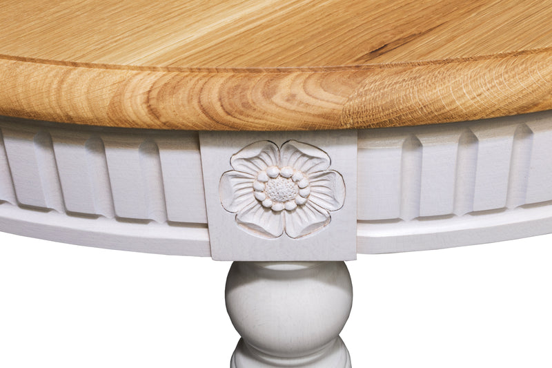 BADI Solid Wood Oval Dining Table