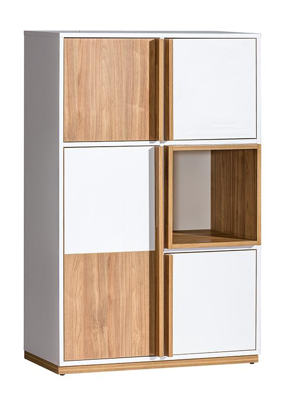 EVADO White & Walnut Bookshelf
