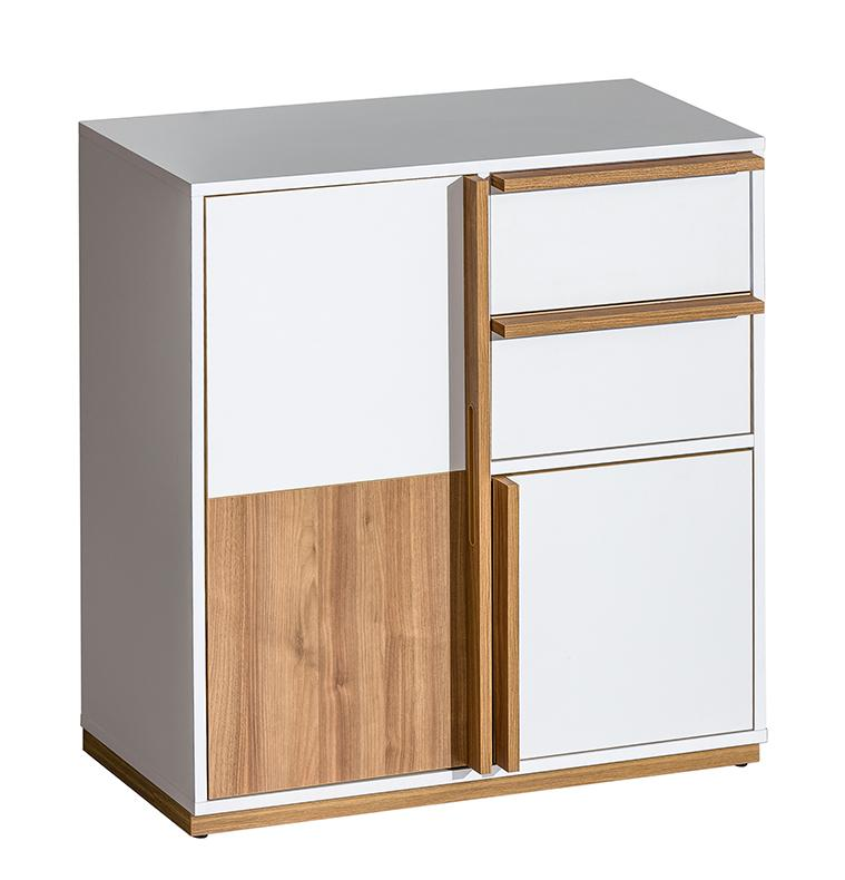 EVADO White & Walnut Small Sideboard