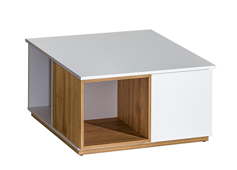 EVADO White & Walnut Coffee Table
