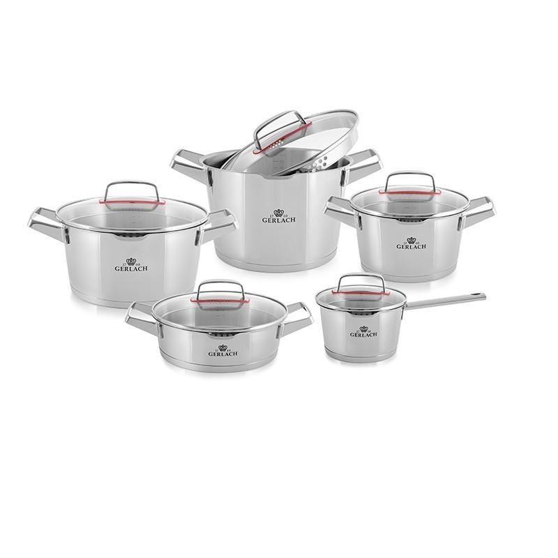 SUPERIOR Stainless Steel Pot Set With Lids 10 pcs