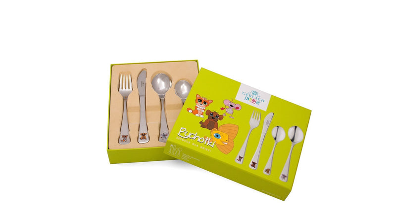 ANIMALS Children 4 Piece 18/10 Stainless Steel Flatware Set