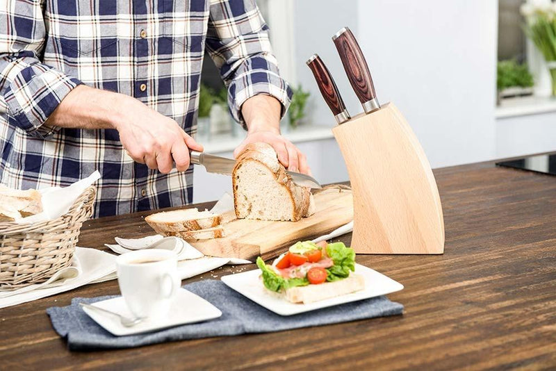 DECO WOOD 6 Piece Knife Block Set