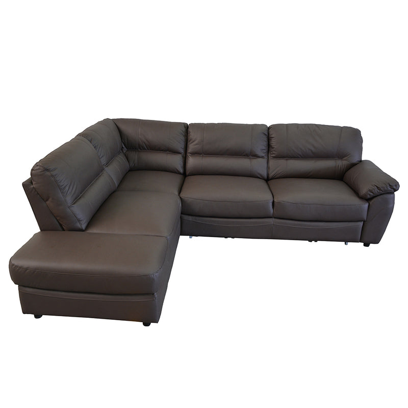 BALTICA  3 Natural Leather Sleeper Sectional