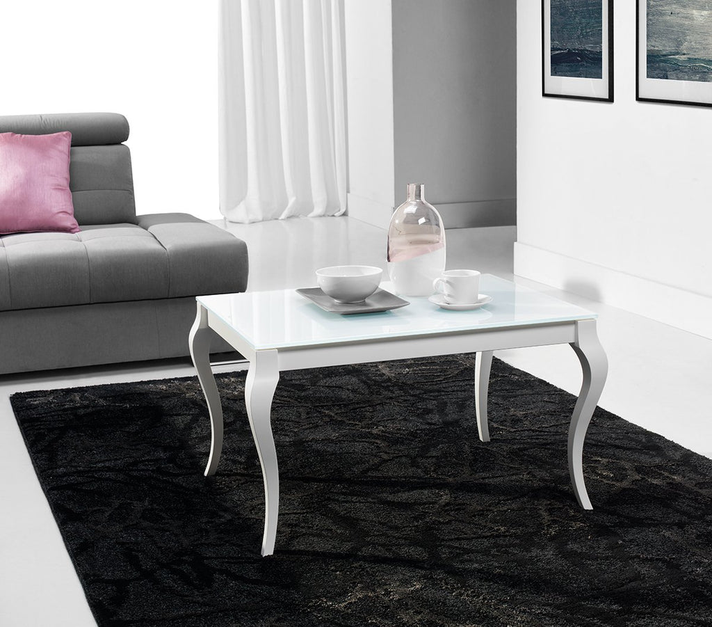 BRESSO Glass Top Coffee Table