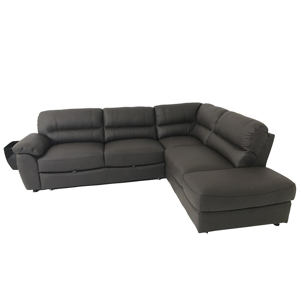 BALTICA Natural Leather Sleeper Sectional