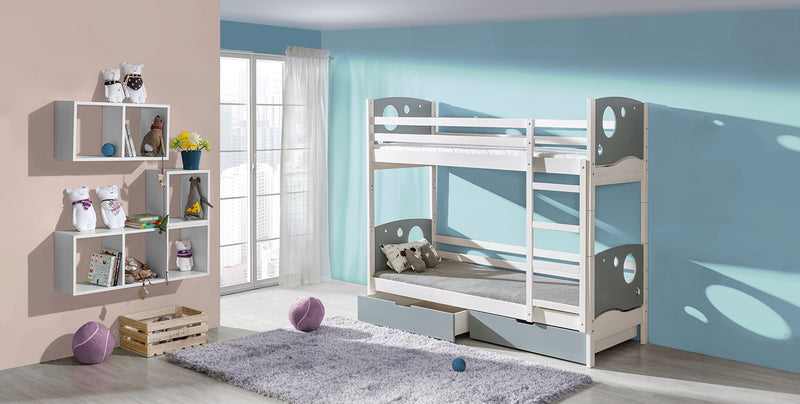 KEWIN European Twin Bunk Bed