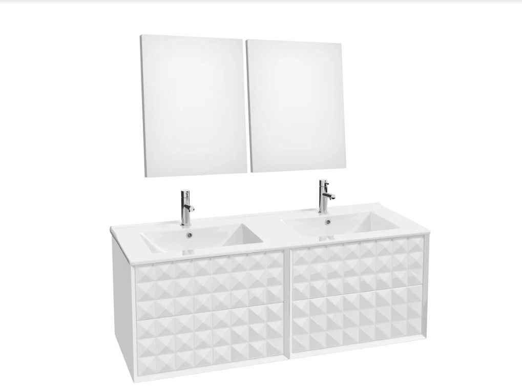 ZIRCO Double Sink Bathroom Set