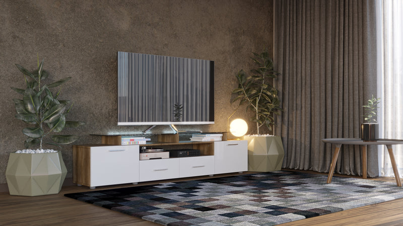 EVORA modern TV Stand for TV's up to 65""