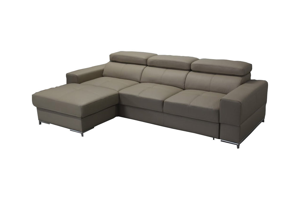 BAZALT Leather Sectional Sleeper Sofa