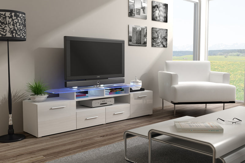 EVORA modern TV Stand with glossy fronts