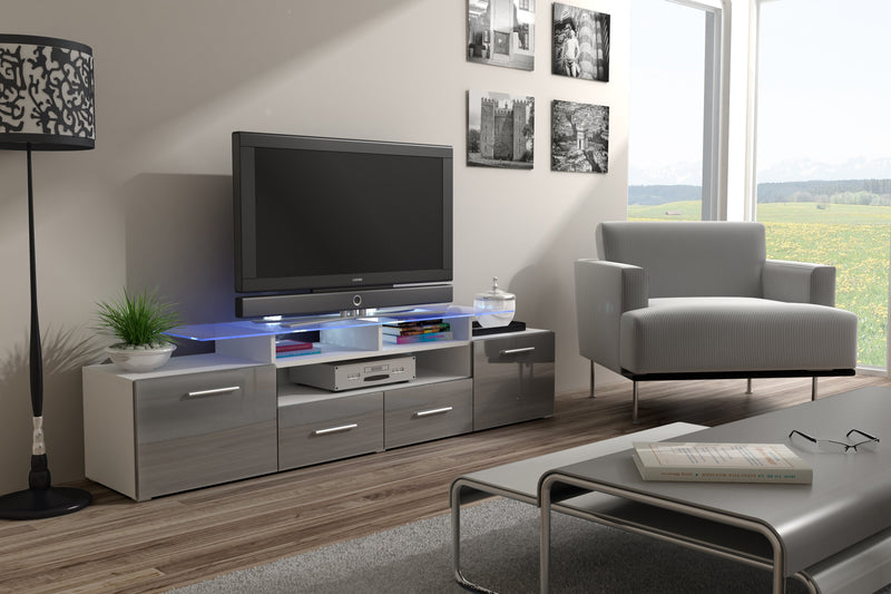 EVORA High Gloss TV Stand