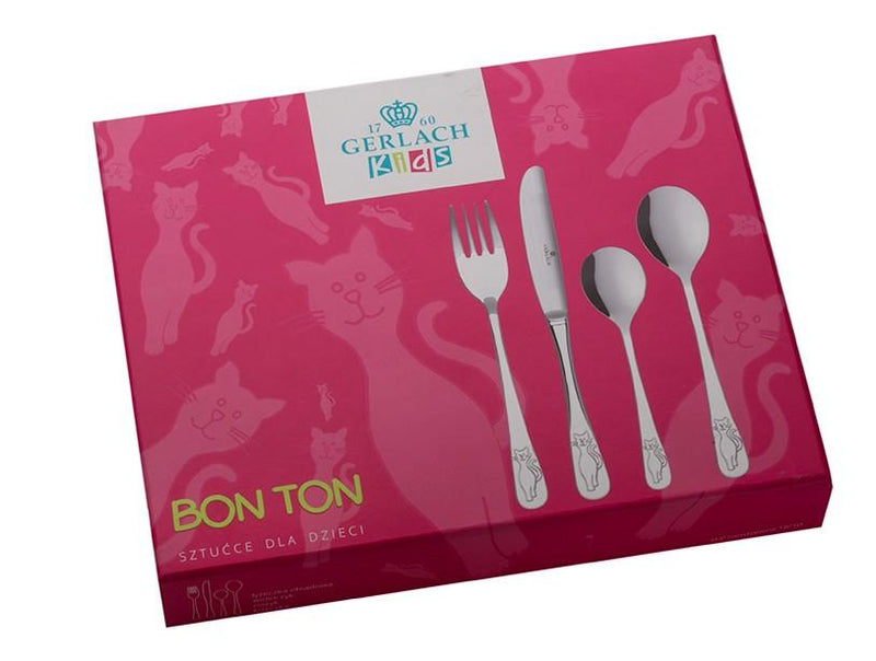 CAT Children 4 Piece 18/10 Stainless Steel Flatware Set