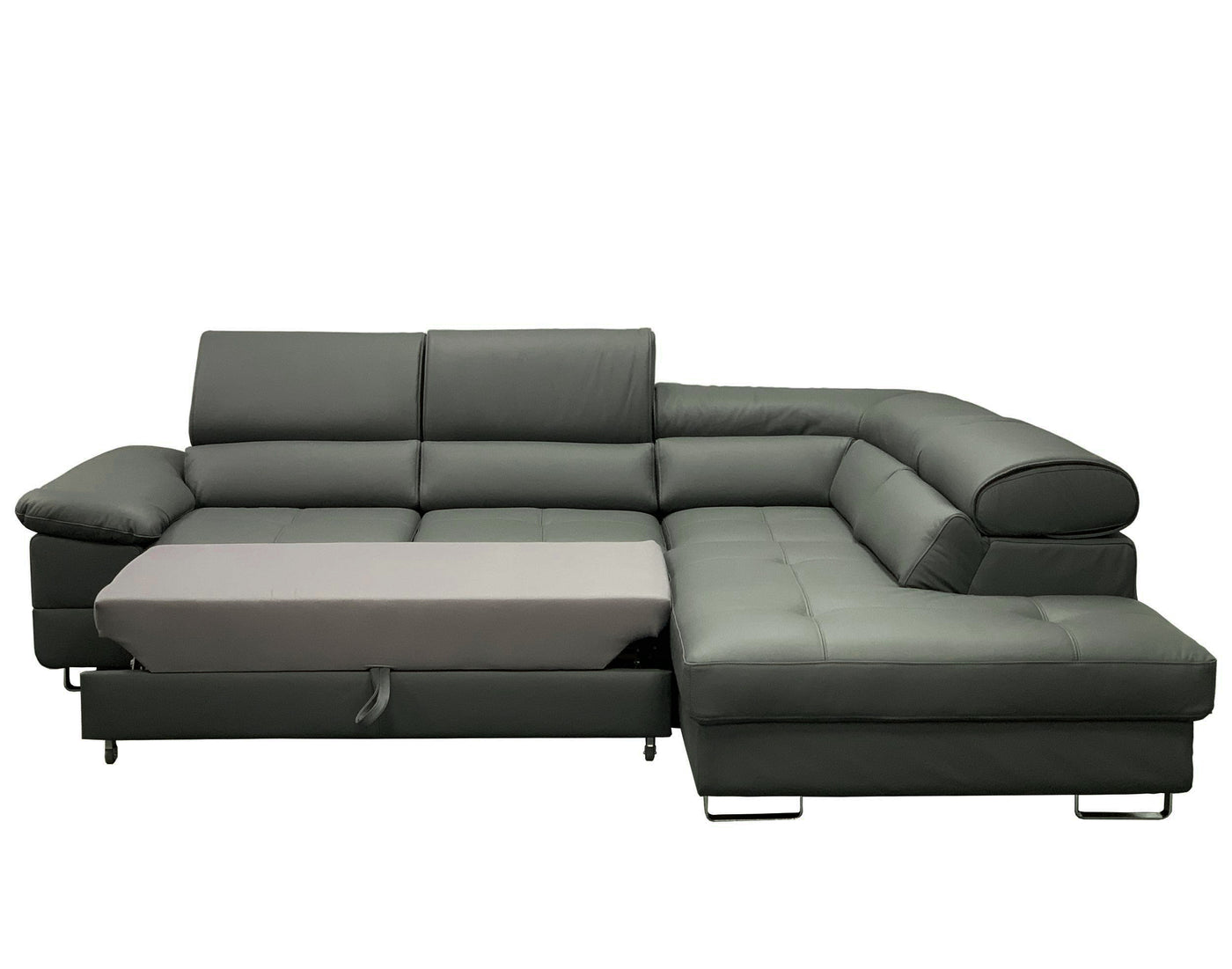 - COSTA Leather Sectional Sleeper Sofa, Right Corner – Maxima House
