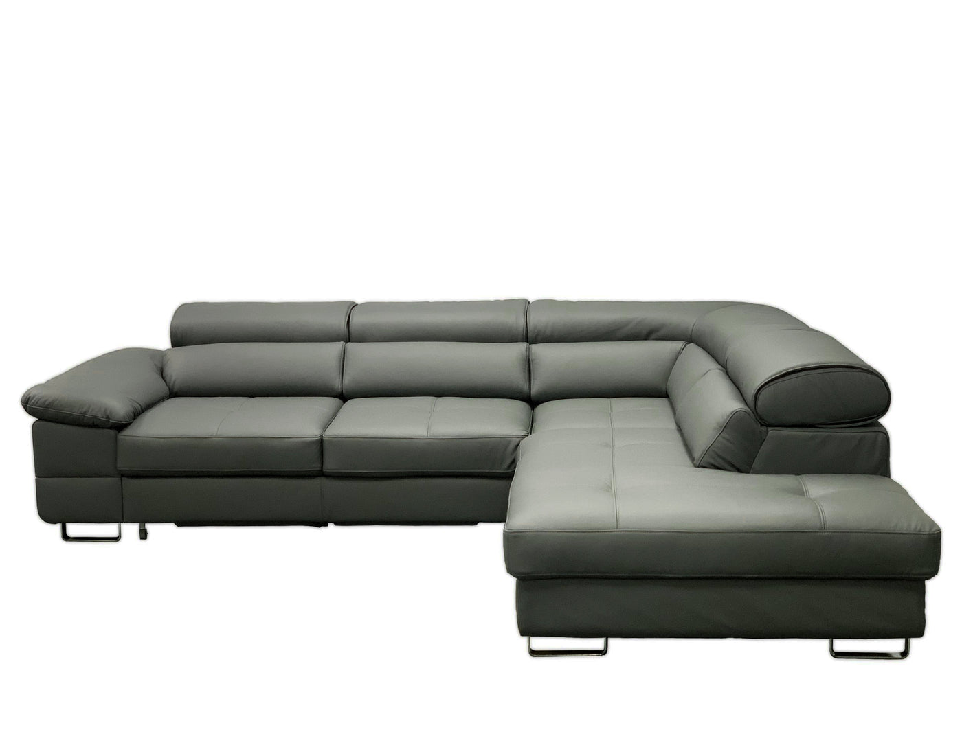 COSTA Leather Sectional Sleeper Sofa, Right Corner