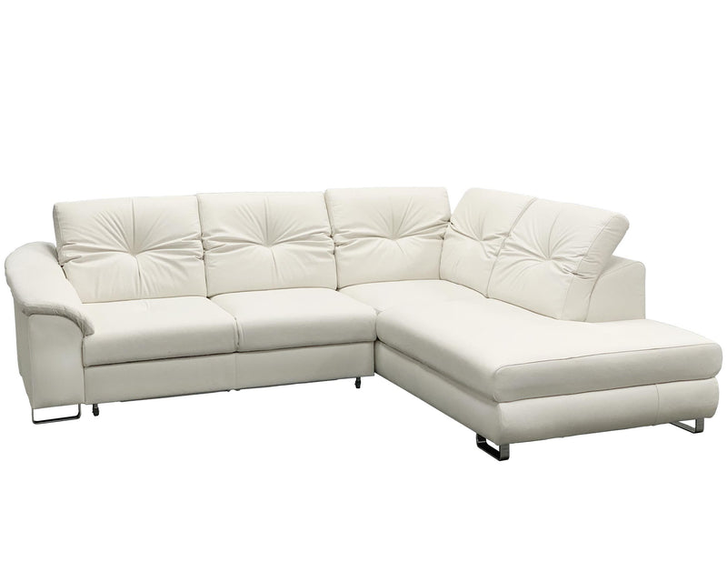 EGO Leather Sectional Sleeper Sofa, Left Corner
