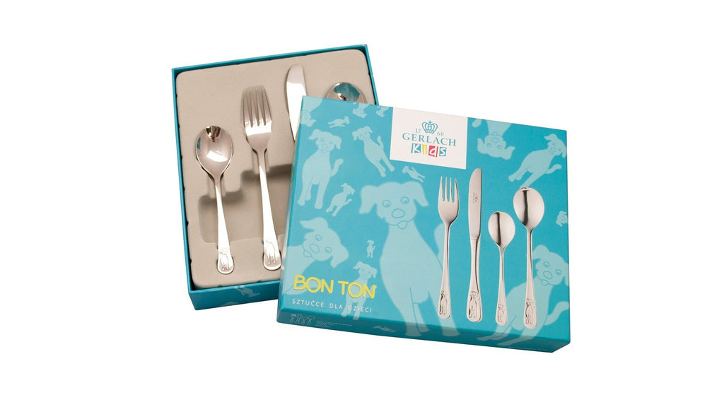 DOG Children 4 Piece 18/10 Stainless Steel Flatware Set
