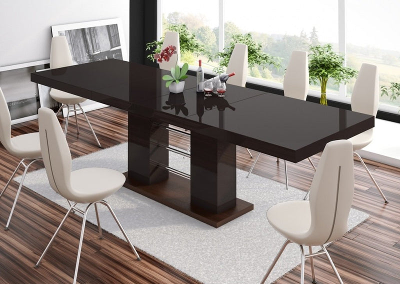LINOSA High Gloss Dining Table with Extension