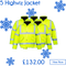 Hi Viz Workwear Bundle 3 - 5 Hi-Vis Bomber Jackets - Includes a free logo