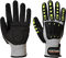 A722 - Anti Impact Cut Resistant Glove Grey/Black