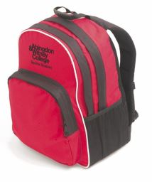 AWC Sports Student Back Pack Black/Red (LV985)