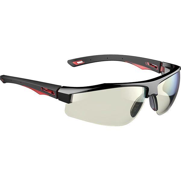 Galactus™ Anti-mist Safety Spectacle - Black / Red - Indoor Outdoor lens