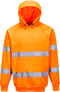 Hi-Vis Hooded Sweatshirt Orange B304