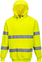 Hi-Vis Hooded Sweatshirt Yellow B304