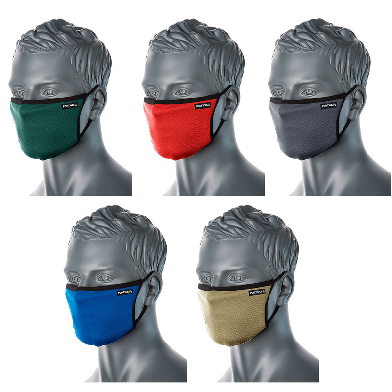 CV30 - 3 Ply Fabric Face Mask 5 Different Colours Availabe