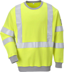 Portwest Flame Resistant Anti-Static Hi-Vis Sweatshirt (FR72)