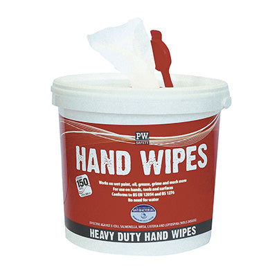 Bucket of Industrial Hand Wipes  and Surface Sanitising Wipes 150 Wipes Alcohol Content 7%