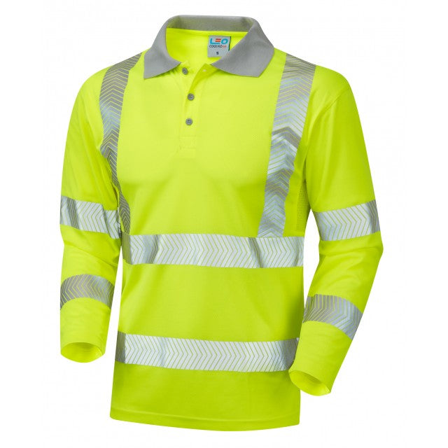 BARRICANE ISO 20471 Cl 3 Coolviz Plus Sleeved Polo Shirt