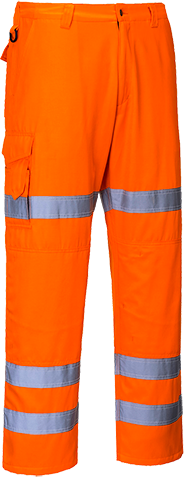 Portwest RT49 Hi-Vis 3-Band Combat Trousers