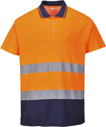 2-Tone Cotton Comfort Polo S174