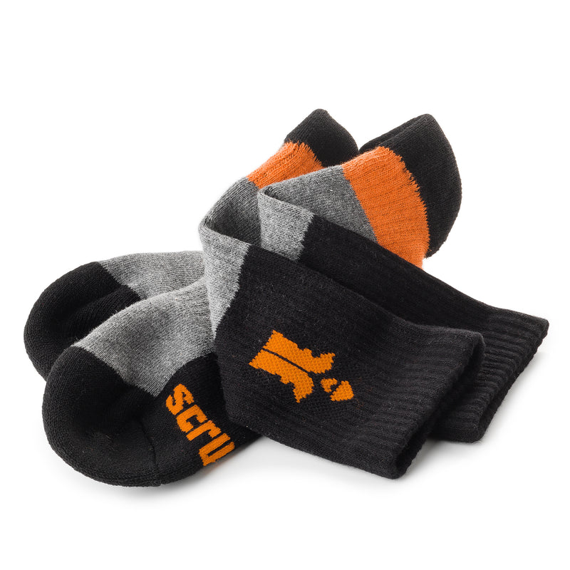 Scruffs Trade Socks (Black and Grey)