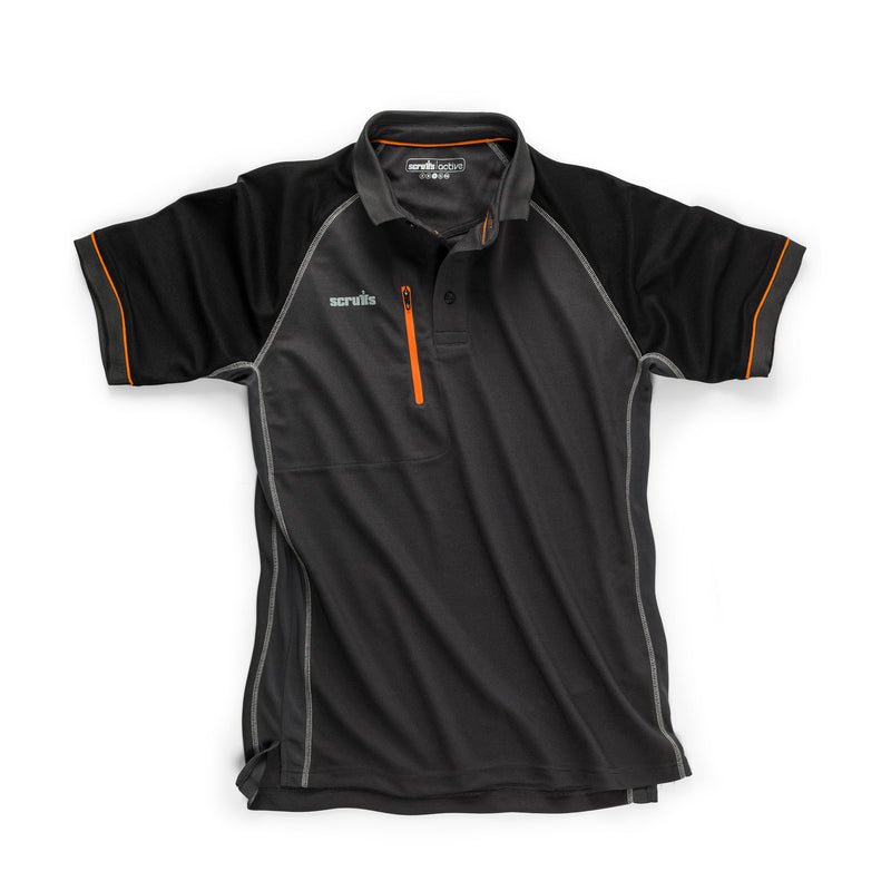 Scruffs Trade Active Polo (Graphite)