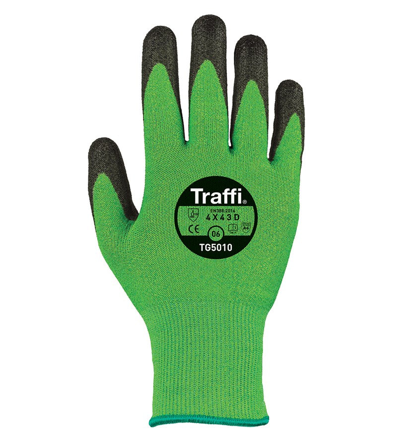Classic 5 Green Cut Protection 5 TraffiGlove TG5010 Per Pair