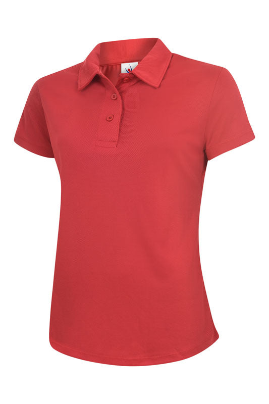 UC126 Ladies Ultra Cool Poloshirt Red