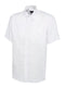 UC702 Mens Pinpoint Oxford Half Sleeve Shirt White