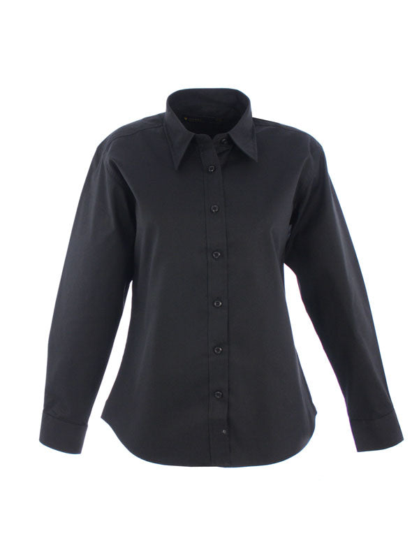 UC703 Ladies Pinpoint Oxford Full Sleeve Shirt Black