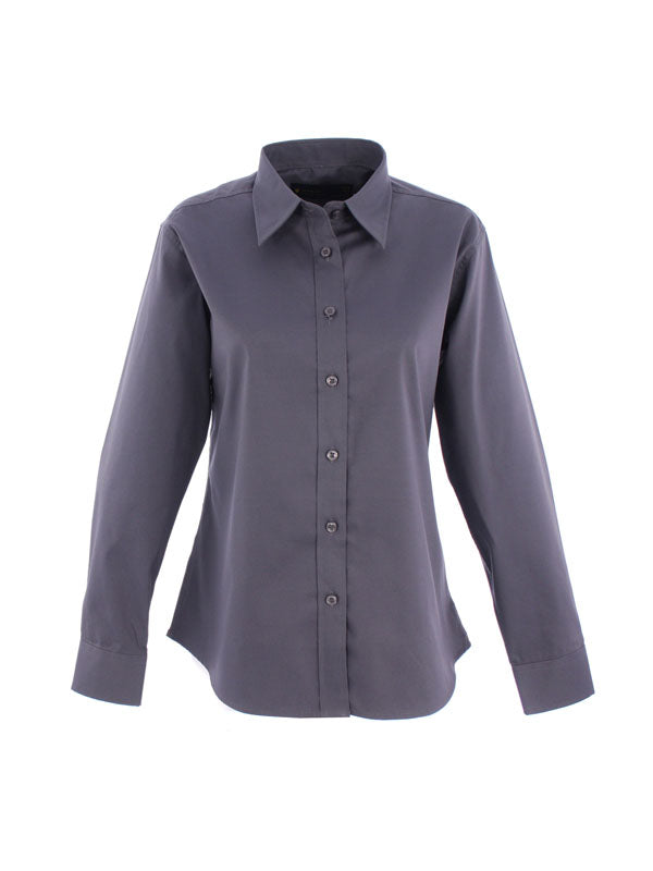 UC703 Ladies Pinpoint Oxford Full Sleeve Shirt Charcoal
