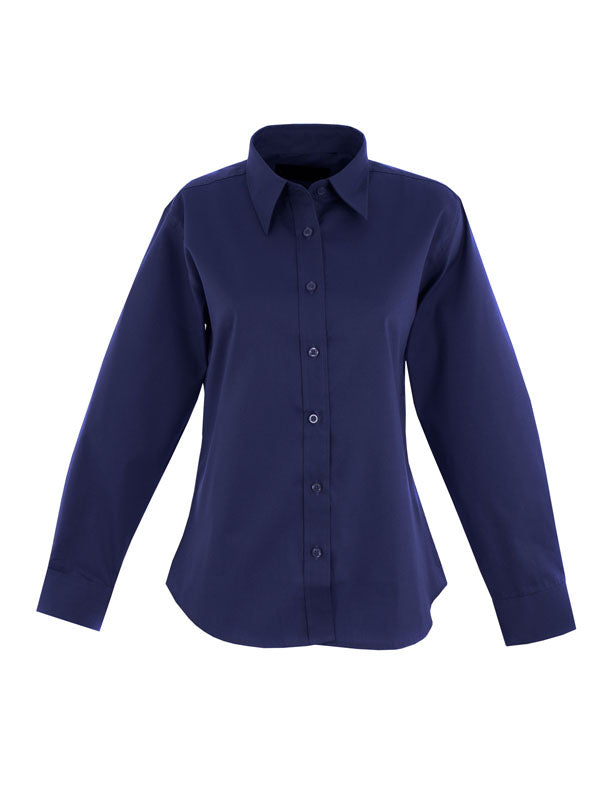 UC703 Ladies Pinpoint Oxford Full Sleeve Shirt Navy