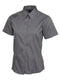 UC704 Ladies Pinpoint Oxford Half Sleeve Shirt Charcoal