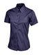UC704 Ladies Pinpoint Oxford Half Sleeve Shirt Navy