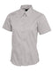 UC704 Ladies Pinpoint Oxford Half Sleeve Shirt Silver Gray