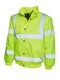 UC804 High Visibility Bomber Jacket Yellow